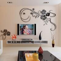 亚克力3d立体自粘墙贴家装饰品客厅卧室电视背景墙壁纸贴画