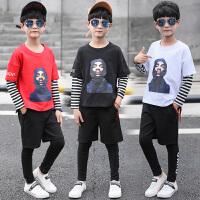 男童长袖t恤秋装儿童春秋12-15岁中大童秋季男孩韩版上衣