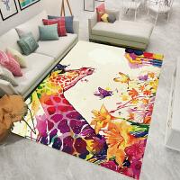 欧式客厅地毯沙发茶几垫卧室床边门厅家用满铺薄地毯民族几何