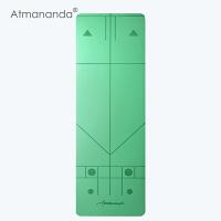 Atmananda正位瑜伽垫 引导正确练习 防滑瑜珈垫子 加厚加长运动健身垫 173cm*61cm*4mm