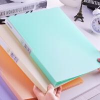 彩色资料册学生卡通试卷插袋插页透明资料册