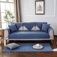 沙发垫双面全棉四季通用刺绣布艺沙发套现代简约沙发垫子沙发巾套罩组合防滑坐垫 支持 110*240cm 单片