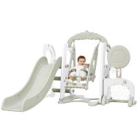 儿童室内滑梯多功能家用宝宝滑滑梯组合幼儿园秋千健身大型玩具5pi
