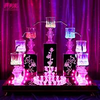 新款丘比特烛台两用婚庆道具送LED发光杯结婚用品