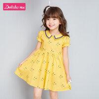 【券后�A估�r:47】笛莎童�b女童�B衣裙2020夏季新款女�����r尚小女孩洋��和�裙子潮