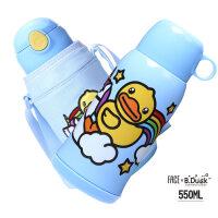 face儿童保温水壶带吸管两用316不锈钢小学生幼儿园宝宝防摔水杯a225
