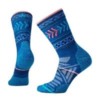 户外运动袜功能女士袜子中筒轻量减震带图案
