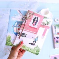 小浪漫胶套本随身可爱小本子学生小清新创意韩国文具便携加厚笔记本子