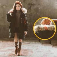 货比迪士尼巴拉巴拉等女童冬装棉衣2018新款女孩韩版中长款棉袄中大童洋气加厚外套