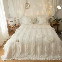 韩版冬季珊瑚绒四件套夹棉加厚法兰绒法莱绒被套床裙1.8m米床上