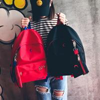 书包女高中学生韩版校园潮原宿ulzzang双肩包休闲帆布旅行背包包