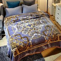 珊瑚绒毯子冬季加厚法兰绒拉舍尔毛毯男单人保暖女冬用被子双层 200cmx230cm 约9斤