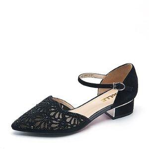 Belle/百丽春专柜同款羊绒皮革/纺织品女皮凉鞋BLX30AK7