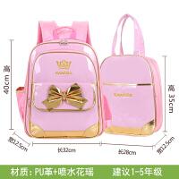 女童书包小学生女1-3-6年级儿童护脊双肩书包拉杆书包女孩
