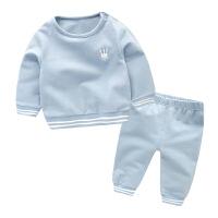 婴儿衣服卫衣套装 春季婴幼儿男童女宝宝外出服小童两件套