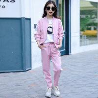 童装女童运动套装2018秋季新款儿童韩版时尚中大童洋气三件套潮衣