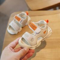 夏季宝宝凉鞋男童女童学步鞋软底小童鞋子0-1-2一3岁包头防滑儿童