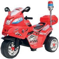 儿童电动车童车三轮电动摩托车宝宝车警车可坐婴儿玩具车 红色