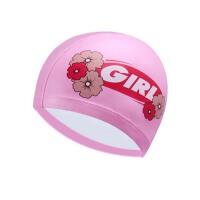 儿童泳帽 PU小孩青少年游泳帽 女童男童防水护耳长发泳帽