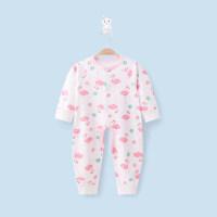 婴儿连体衣春秋冬装女0-1岁男宝宝哈衣新生儿内衣服睡衣爬服