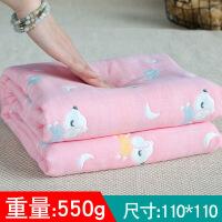 毯子毛毯其它纯棉婴儿浴巾宝宝新生儿童洗澡6层纱布被子盖毯超柔吸水