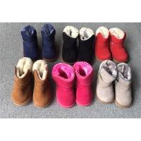 童鞋真皮男童女童冬季皮毛靴子加厚毛毛短靴雪地靴鞋