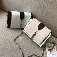 夏天小包包新款韩版链条小方包时尚百搭撞色斜挎包女包单肩包