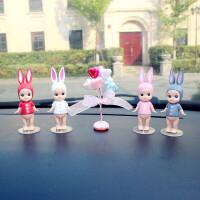 新可爱丘比特娃娃汽车内饰仪表台装饰摆件车内饰品中控台小摆件女 4个兔耳朵天使+
