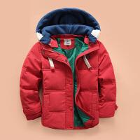 儿童羽绒服男童短款纯色羽绒服中大童冬季加厚羽绒服外套反季清仓