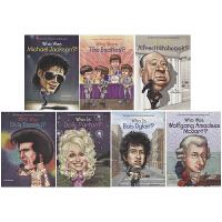 Who is Who was 系列名人传记绘本7册 儿童英语读物 音乐人歌手导演 青少年读物 英文原版图书进口