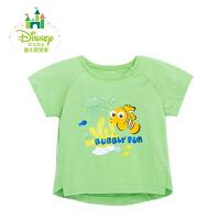 迪士尼Disney男童T恤夏季圆领卡通动漫短袖上衣婴儿纯棉短T162S772