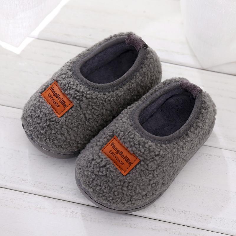 №【2019新款】冬天儿童穿的1-3岁小孩儿童棉拖鞋男女宝宝家居鞋室内幼儿园包跟棉鞋