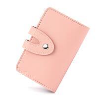卡包女式韩国多卡位卡套小巧名片夹迷你可爱大容量卡夹证件位 粉红