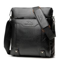 男包单肩包休闲斜挎包公文包竖款时尚皮包男士包包真皮手提包