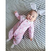 女婴儿连体衣服宝宝新生儿长袖0岁6个月春夏装长袖内衣睡衣外出服