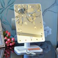 LED化妆镜带灯 台式台灯梳妆镜大号结婚公主镜便携镜子宿舍