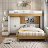【支持礼品卡】儿童床上下床高低床带书桌衣柜子母床双层床上下铺多功能组合床o8c