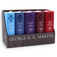 现货英文原版 冰与火之歌全套小说 A Song of Ice and Fire 精装皮革收藏纪念版盒装game of