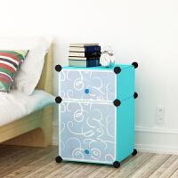 DIY组装式简易衣橱床头柜斗柜收纳柜子简约现代收纳柜