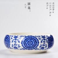 茶洗陶瓷���w大��a青花�P洗普洱茶�~罐茶�放茶杯收�{�P茶道配件