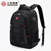 瑞士军刀男户外休闲商务旅行多功能大容量电脑背包学生书包双肩包