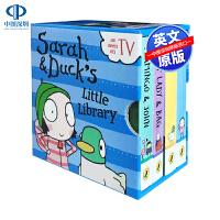 英文原版 莎拉和乖乖鸭小小图书馆4册套装 Sarah and Duck Little Library 儿童英语启蒙早教图