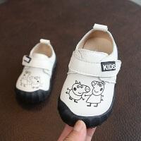 男童婴儿皮鞋卡通防水软底机能鞋 宝宝学步鞋防滑百搭单鞋0-1岁秋