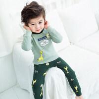 儿童保暖内衣裤套装男童睡衣宝宝秋衣秋裤套装女童婴儿