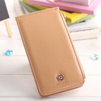 韩国款女式卡包多卡位卡片包简约长款多功能钱包卡夹手机一体
