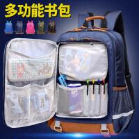 中学生双肩背包韩版男高中校园小学生女初中生帆布大容量防水书包