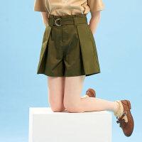 【1件2.5折到手价:28.8】美特斯邦威休闲短裤女夏季新款中腰气质淑女文艺百搭都市风