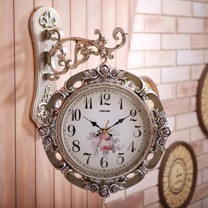 钟表双面挂钟客厅个性创意现代简约静音大气欧式时钟家用时尚挂表  20英寸 发货周期:一般在付款后2-90天左右发货,具体发货时间请以与客服协商的时间为准