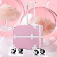 18寸拉杆箱女生小型轻便20行李箱万向轮登机箱子母旅行箱密码