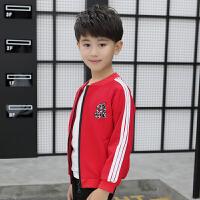 童装男童外套秋秋薄款2018新款男孩中大童运动休闲儿童上衣薄qg 红色 902外套